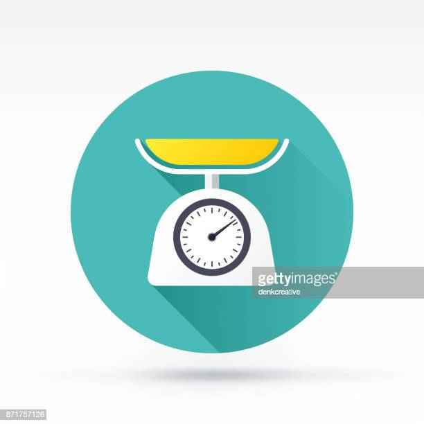 weight scale icon - kitchen scale stock illustrations, clip art, cartoons, & icons