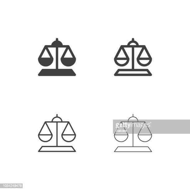 weight scale icons - multi series - balance stock illustrations