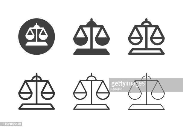 weight scale icons - multi series - criação digital stock illustrations
