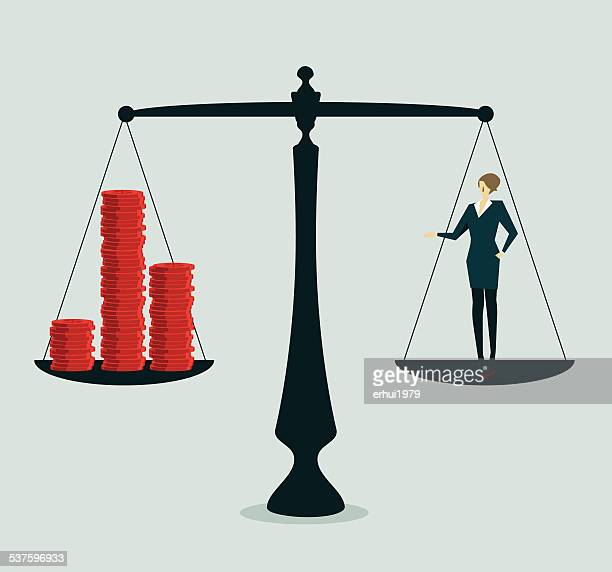 weight scale - libra stock illustrations