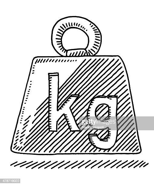 weight symbol kilogram drawing - weights stock illustrations, clip art, cartoons, & icons