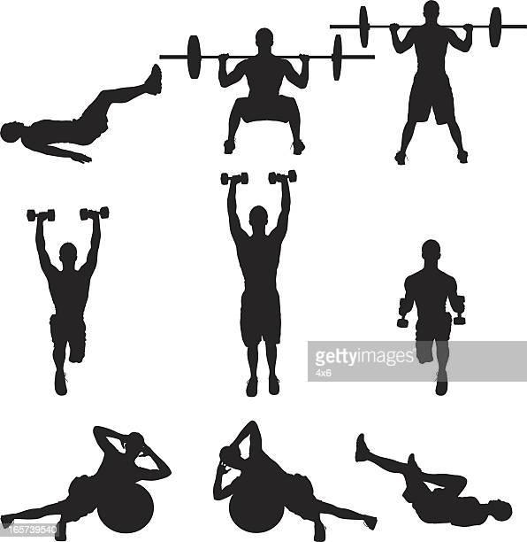Hommes faire de musculation