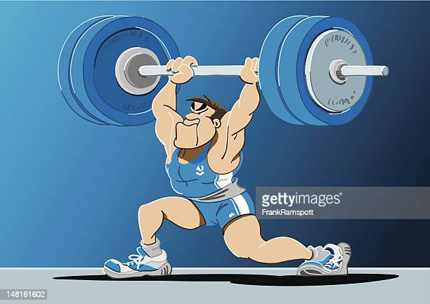 Weightlifter Cartoon Man