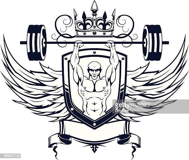 Weightlifter geraldic