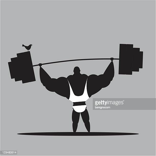 weightlifting and bird - anaerobic stock illustrations, clip art, cartoons, & icons