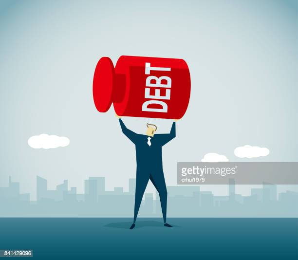 weightlifting - subprime loan crisis stock illustrations