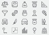 Weights and Scales Line Icons | EPS 10