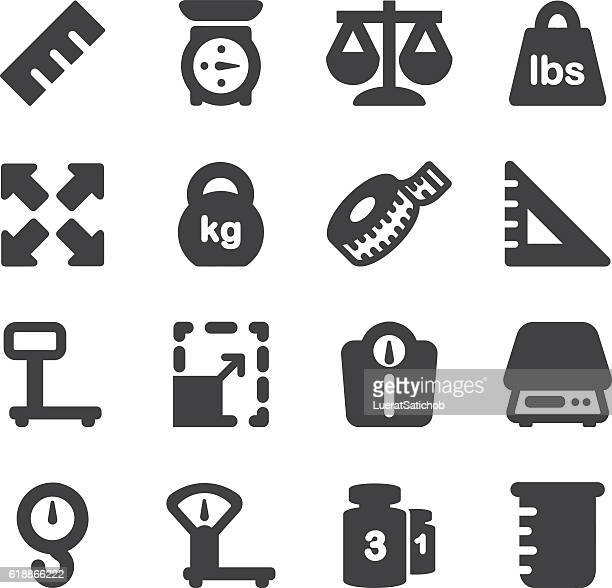 weights scales unit silhouette icons | eps10 - heavy stock illustrations, clip art, cartoons, & icons