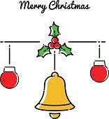 Weihnachtliche Dekoration, Vektor Illustration