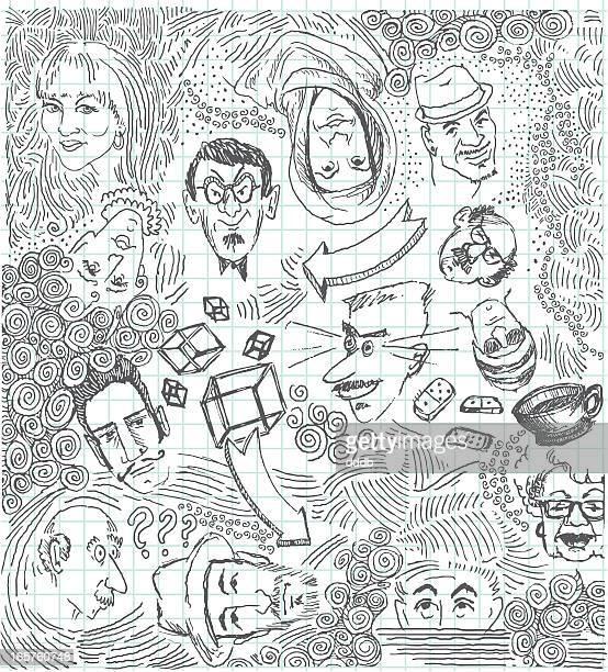 Weird Doodles Faces