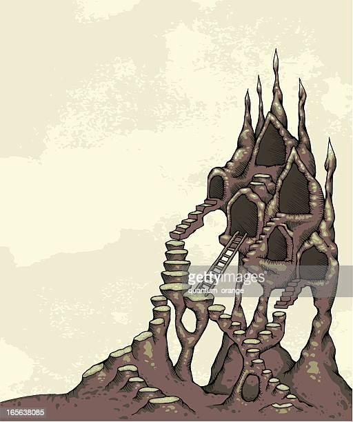 weird houses - crag stock illustrations, clip art, cartoons, & icons