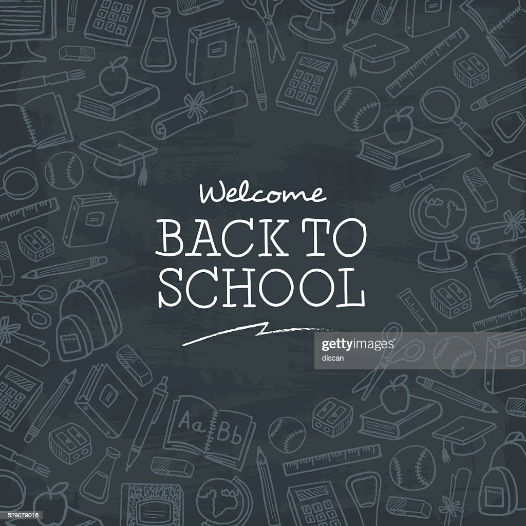 Welcome back to school background.