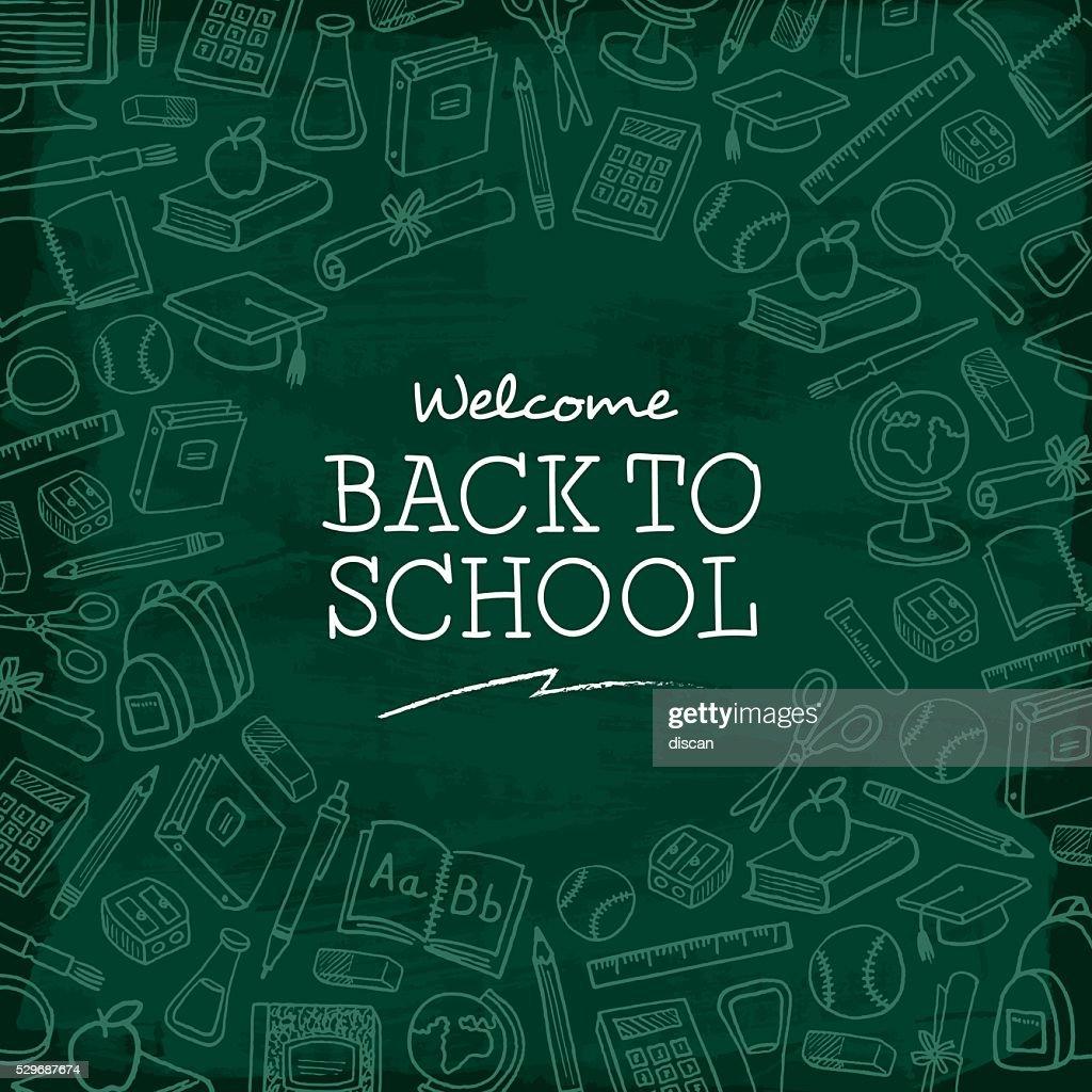 Welcome back to school background. : Stockillustraties