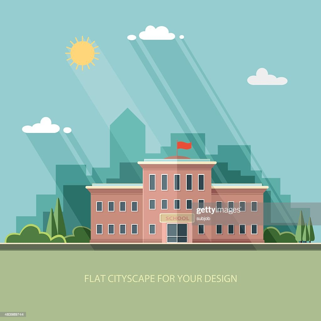 Welcome back to school. Flat style vector illustration.