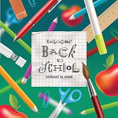 Welcome back to school illustration