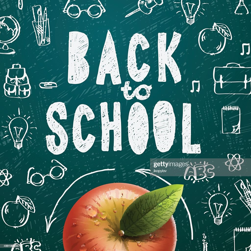 Welcome back to school sale background