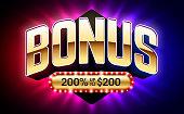 Welcome Bonus, gambling games casino banner