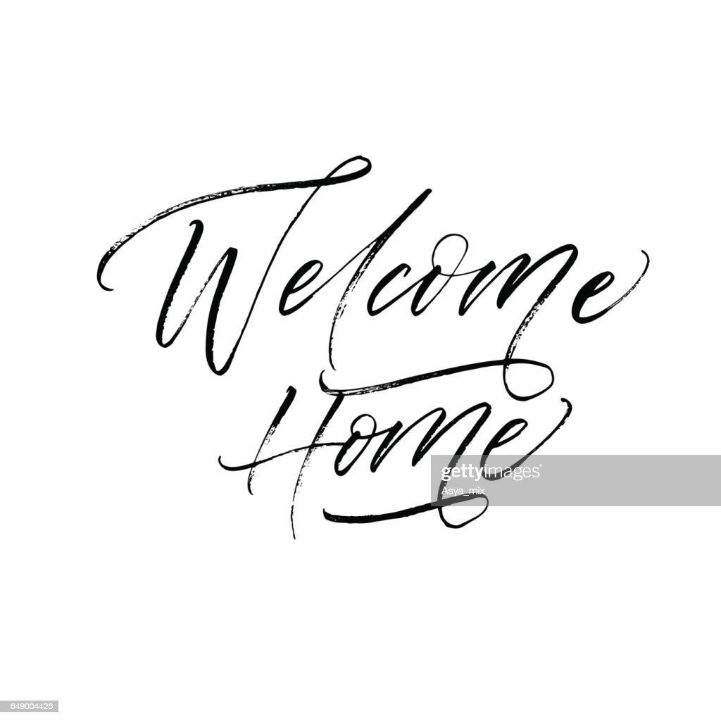 Welcome home postcard.