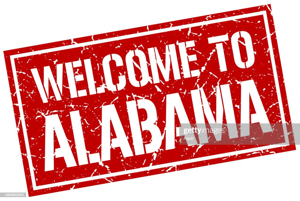 welcome to Alabama stamp