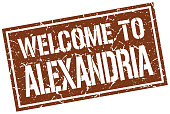 welcome to Alexandria stamp
