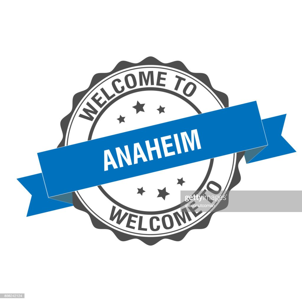 Welcome to Anaheim stamp illustration