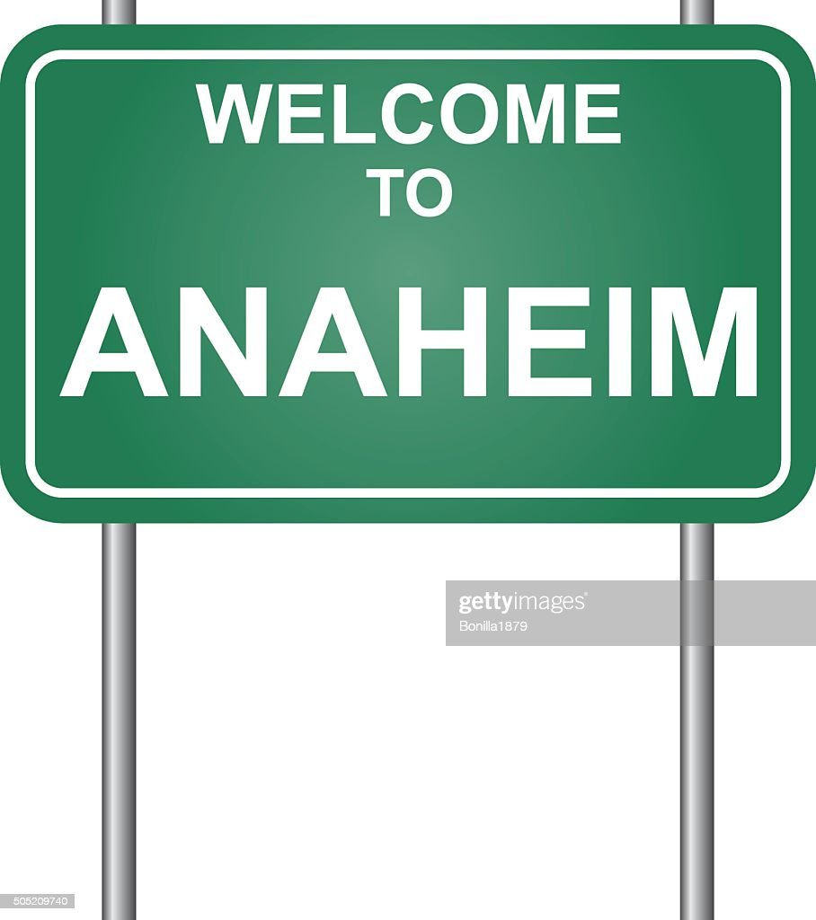 Welcome to Anaheim vector