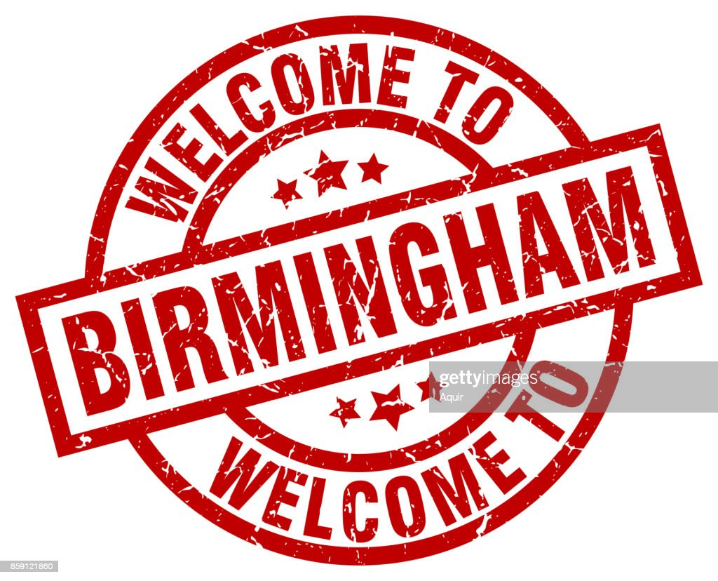 welcome to Birmingham red stamp
