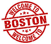 welcome to Boston red stamp