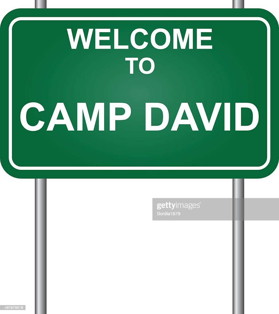 Welcome to Camp David vector