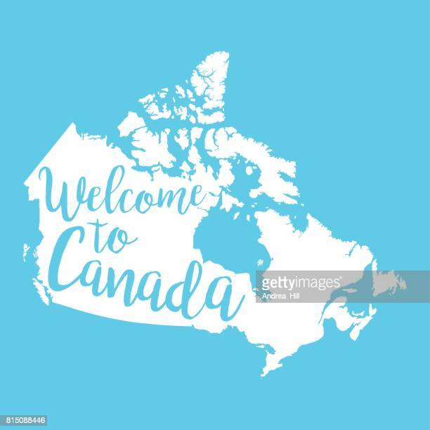 Welcome to Canada Vector Map