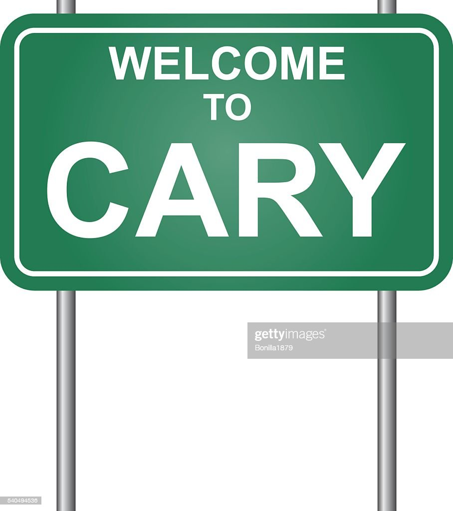 Welcome to Cary, green signal vector