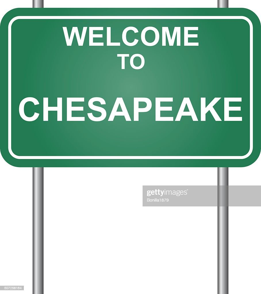 Welcome to Chesapeake, green signal vector