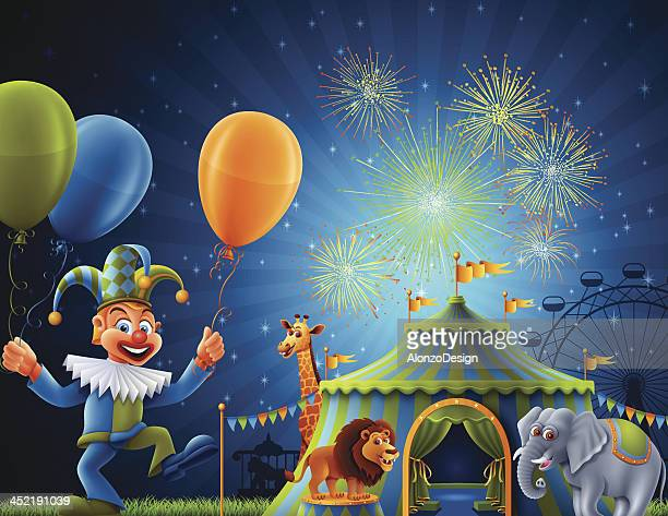 welcome to circus - leisure activity stock illustrations
