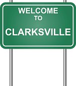 Welcome to Clarksville, green signal vector