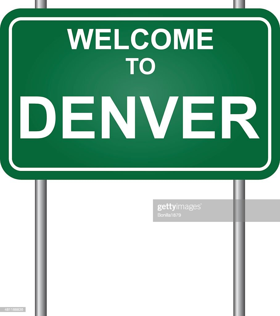 Welcome to Denver vector