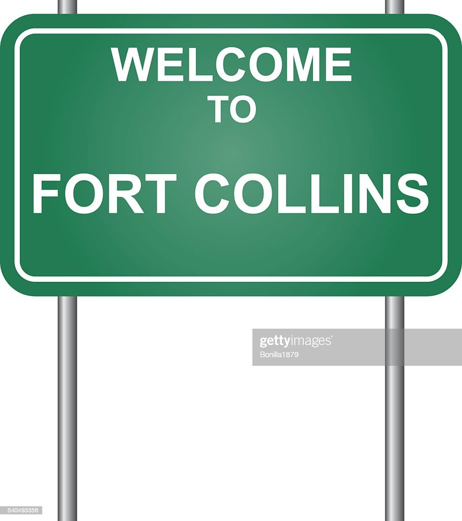Welcome to Fort Collins, green signal vector