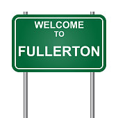 Welcome to Fullerton, green signal vector