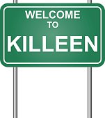 Welcome to Killeen, green signal vector