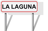 Welcome to La Laguna Spain road sign vector