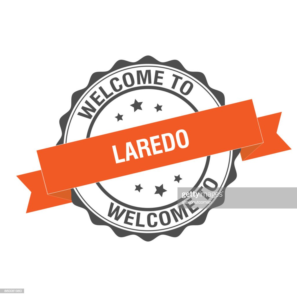 Welcome to Laredo stamp illustration