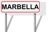 Welcome to Marbella Spain road sign vector