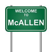 Welcome to McAllen, green signal vector
