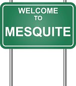 Welcome to Mesquite, green signal vector