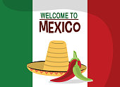 welcome to mexico - flag nation hat