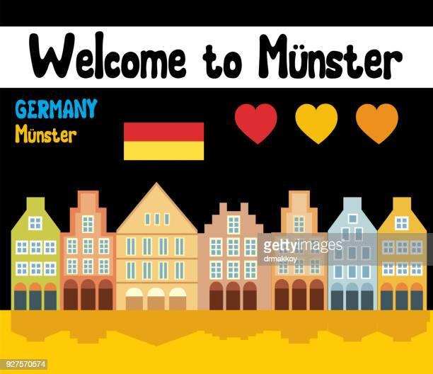 ミュンスターへようこそ - ミュンスター市点のイラスト素材/クリップアート素材/マンガ素材/アイコン素材