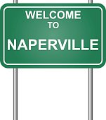 Welcome to Naperville, green signal vector