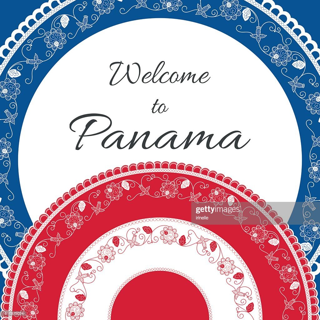 Welcome to Panama. Vector illustration