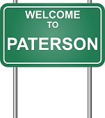 Welcome to Paterson, green signal vector