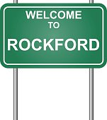 Welcome to Rockford, green signal vector