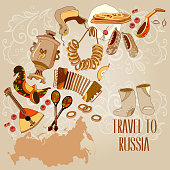 Welcome to Russia. Traditional Russian cuisine and culture
